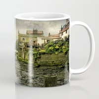 cassia beck Mugs featuring The Beck at Staithes by tarrby/Brian Tarr