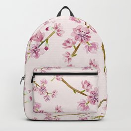 Spring Flowers - Pink Cherry Blossom Pattern Backpack