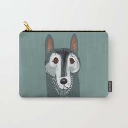 Totem Canadian wolf 2 Carry-All Pouch