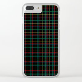 Red and green plaid Clear iPhone Case