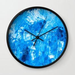Marine oil art pattern Wall Clock