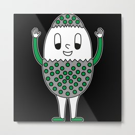 Egg Easter-Egg Dotted Metal Print