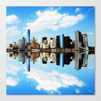 new york Canvas Prints featuring New York New York by haroulita