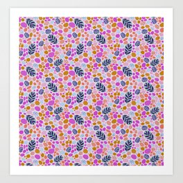 Pink Pebbles Art Print