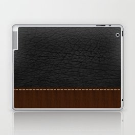Black Leather look Laptop & iPad Skin