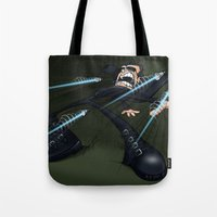 matrix Tote Bags featuring Matrix by alexviveros.net