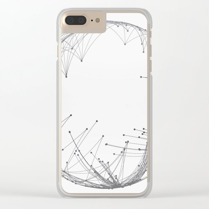 Minimal Geometric Circle Clear iPhone Case