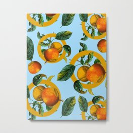 Vintage Fruit Pattern II Metal Print