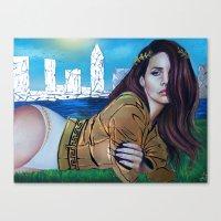 lana del rey Canvas Prints featuring DEL REY  by CARLOSGZZ