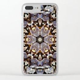 Mushroom Mandala 2 Clear iPhone Case