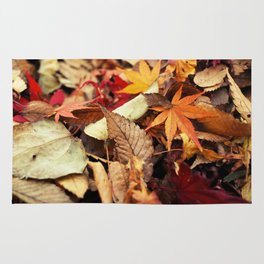 Indian Summer - Colorful Autumn Leaves Rug