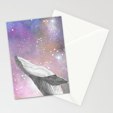 Whale in the sky Stationery Cards