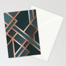 Green Art Deco Stationery Cards