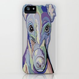 Greyhound in Denim Colors iPhone Case