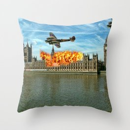 Houses of Parliament London Throw Pillow