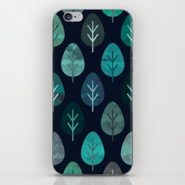 Watercolor Forest Pattern #7 iPhone Skin