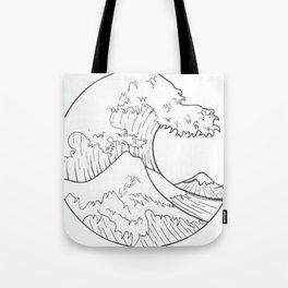 The wave of Kanagawa Tote Bag