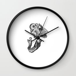 Broken jaw Wall Clock