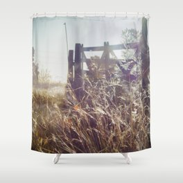 Sunset on the gate Shower Curtain