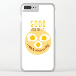 Good morning print Clear iPhone Case