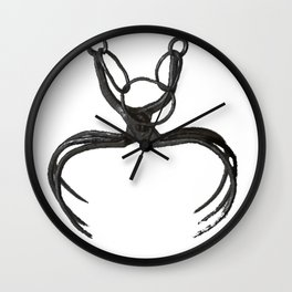 Spanish Spider Coffin Dance Time Woman Penalty Bless Wall Clock