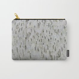 Birch Bark on a Fallen Tree Carry-All Pouch