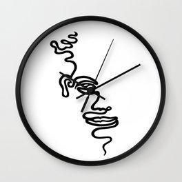 Single Line Face Wall Clock
