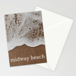 midway beach Stationery Cards