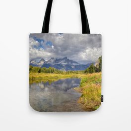 The Grand Tetons Panorama Tote Bag