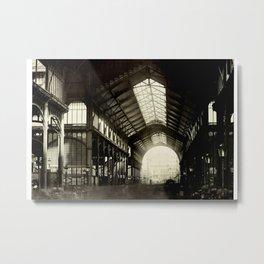Central market, Paris, France. Interior Metal Print