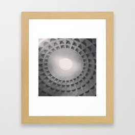 The Pantheon dome, architectural photography, Michael Kenna style, Rome photo Framed Art Print