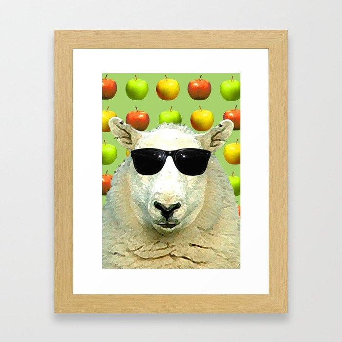Cool D'ewe'd Framed Art Print