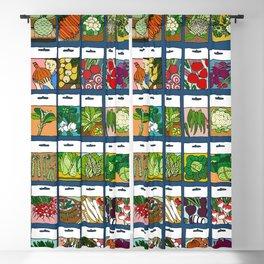 Veggie Seeds Pattern Blackout Curtain