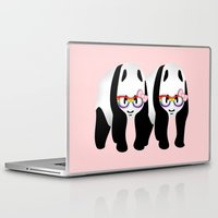 lesbian Laptop & iPad Skins featuring Lesbian  Gay Pride Pandas by mailboxdisco