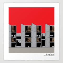 Salk Institute Kahn Modern Architecture Art Print