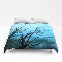 Aqua Skies Tree and Stars A163 Comforters