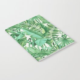 Green tropical leaves III Notebook