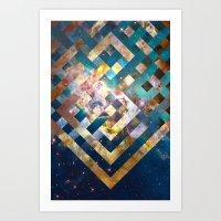Space Weave Art Print