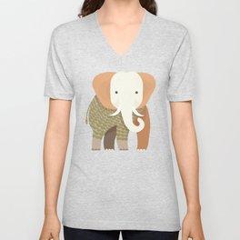 Whimsical Elephant Unisex V-Neck