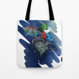 Tiamat the Five-Headed Dragon Tote Bag