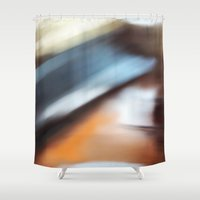 running Shower Curtains featuring Running by Steven Kabza