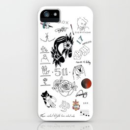 Halsey's Tattoos iPhone Case