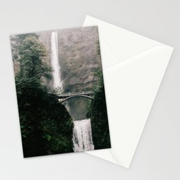 Multnomah Falls Waterfall in October - Landscape Photography Stationery Cards