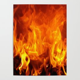 fire pattern home decor Poster