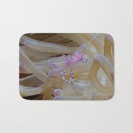 Pregnant anemone shrimp (pink eggs!) Bath Mat