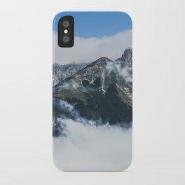 Misty mountain in a summer morning iPhone Case