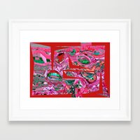 origami Framed Art Prints featuring Origami by Jose Luis