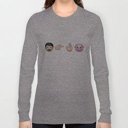 Emoji: Man Vs Pig Long Sleeve T-shirt