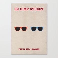 22 Jump Street Minimalist Poster Canvas Print