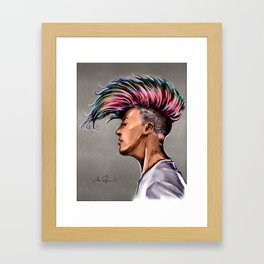 RGD Punk Rock Girl Portrait | Nikki the Bee Framed Art Print